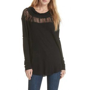 Free People Spring Valley Top In Black Size XS